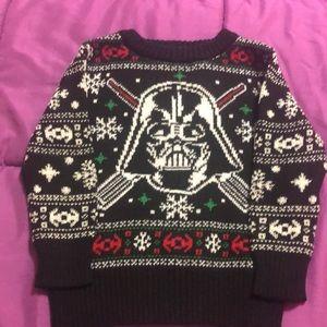 18mo Darth Vader Christmas sweater